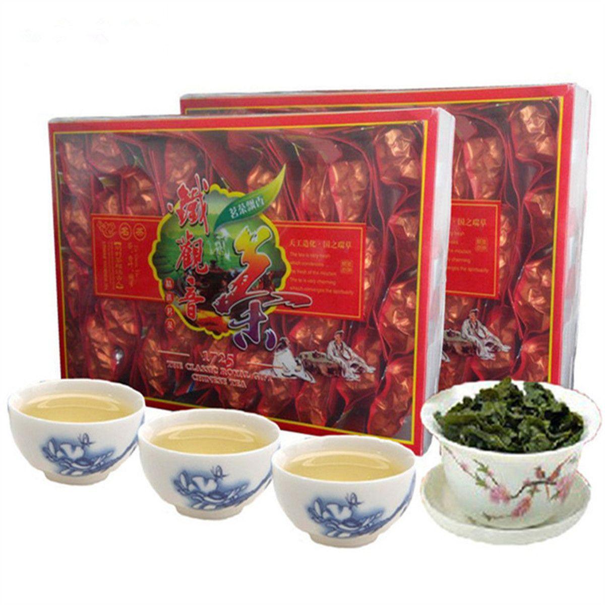 250g Çin Organik Oolong Çay Tayvan Yüksek Dağları Yeni Bahar Oolong Çay Tikuanyin çay Yeşil Gıda Kutulu Sıcak satış