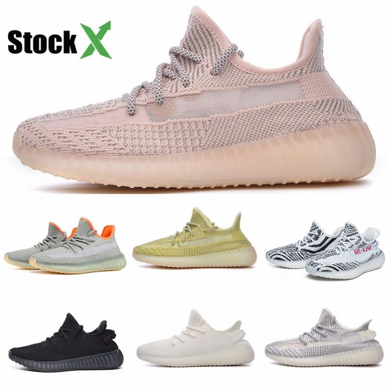 2020 Nova Kanye West Calçados Femininos Men V1 pirata Black Turtle Dove Moonrock Oxford Tan corredor da onda corrente Sneakesb1D6 # # QA535