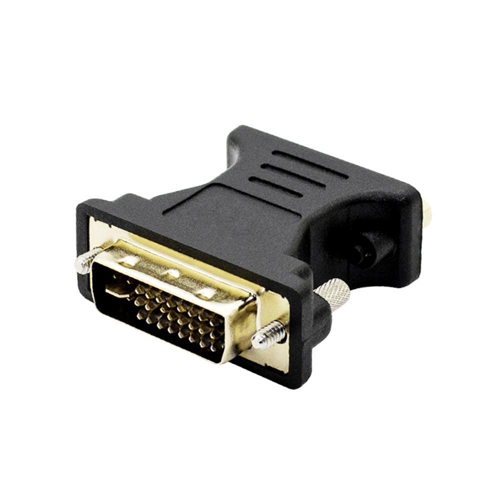 DVI a VGA di DVI 24 + 5 a VGA maschio a femmina dell'adattatore del convertitore per il PC portatile