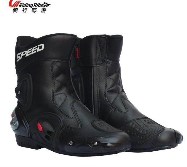 Sapatos motocicleta botas de corrida off-road da motocicleta anti-queda desgaste resistentes-Road botas de montar sapatos de lazer de corrida