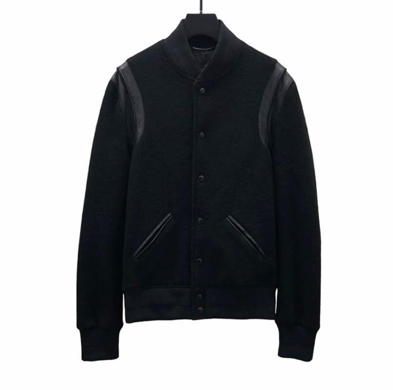 Лучшая версия европейская куртка Классический черный и белый Бейсбольная куртка мужчины и женщины высокого качества конструктора куртки HFBYJK240