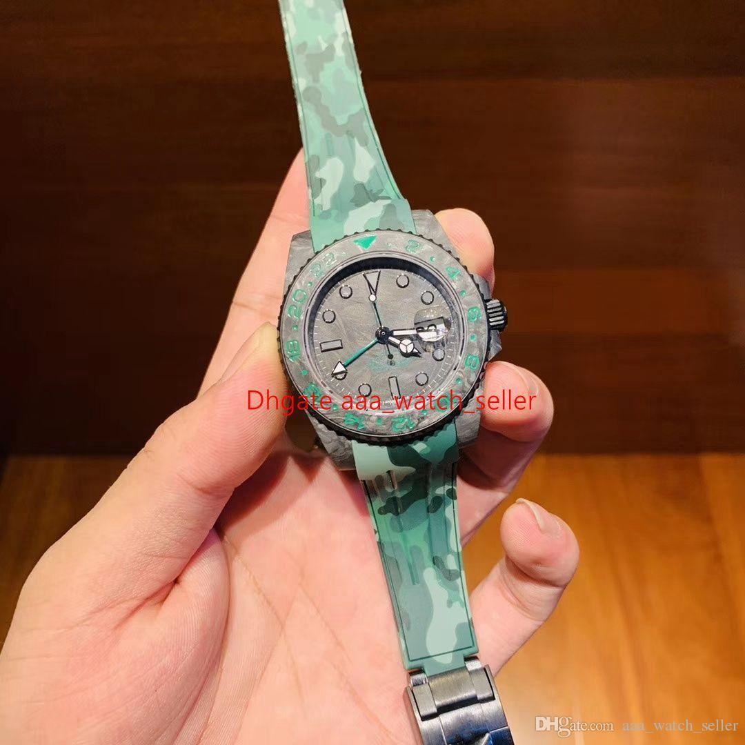 Новый мастер montre De luxe углеродного волокна GMT 116710BLNR 2836 механический механизм сапфировое стекло водонепроницаемый роскошные модные мужские наручные часы