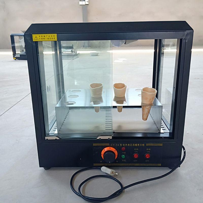 Новый шкаф высокого качества, коммерческий дисплей конуса электрической пиццы может контролировать температуру, чтобы поддерживать температуру пищи