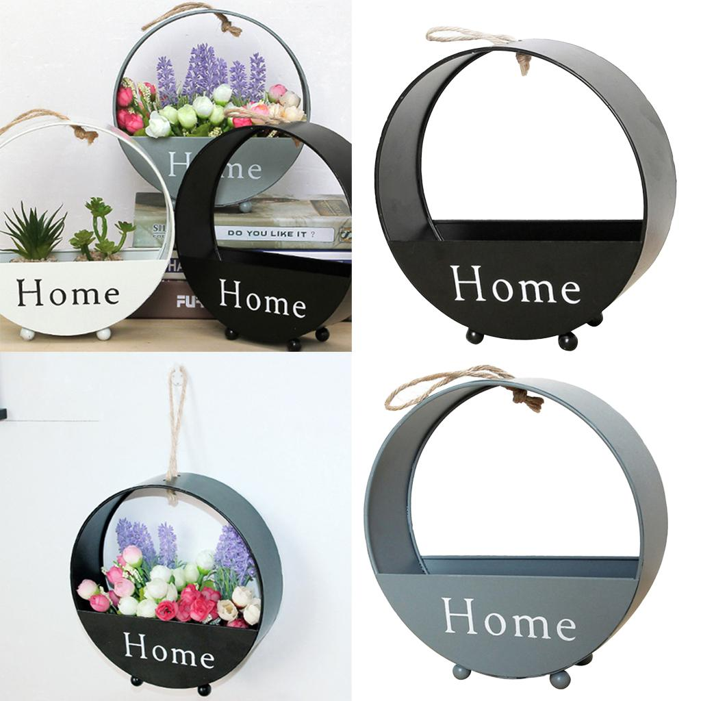 2x Flower Basket armazenamento prateleira Organizador Pots 20,2x6,5cm