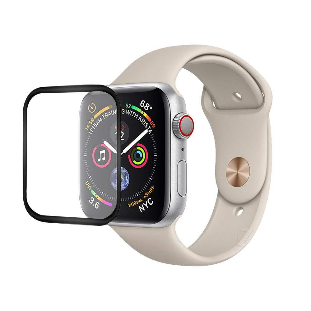 Pvflymk 3D Curved Full Glue Tempered Glass Black Screen Protector Film for 38mm 42mm 40mm 44mm Apple Watch Series 4 3 2 1