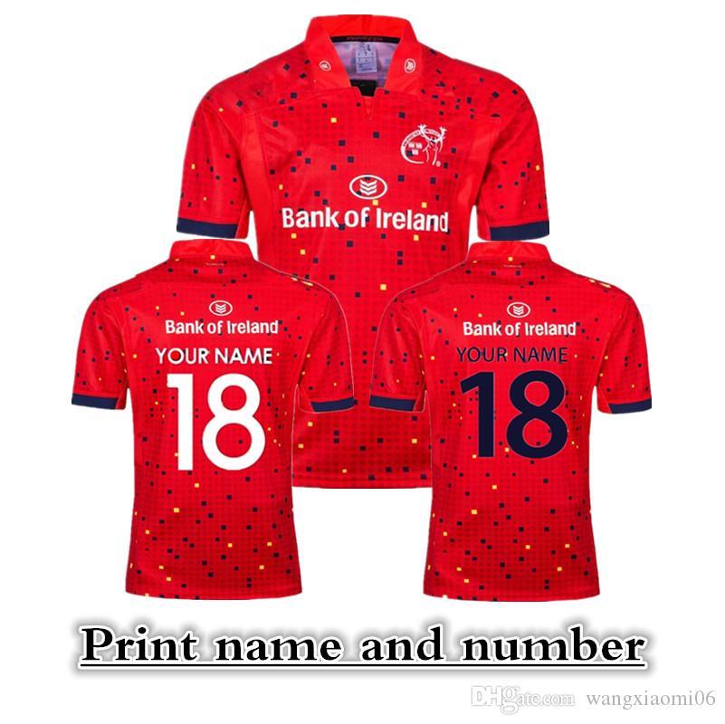 Maillot de rugby de la Ligue de rugby de l'équipe nationale 2018 de Munster RUGBY LEAGUE HOME JERSEY Maillots Maillots Nom et numéro d'impression Livraison gratuite de haute qualité