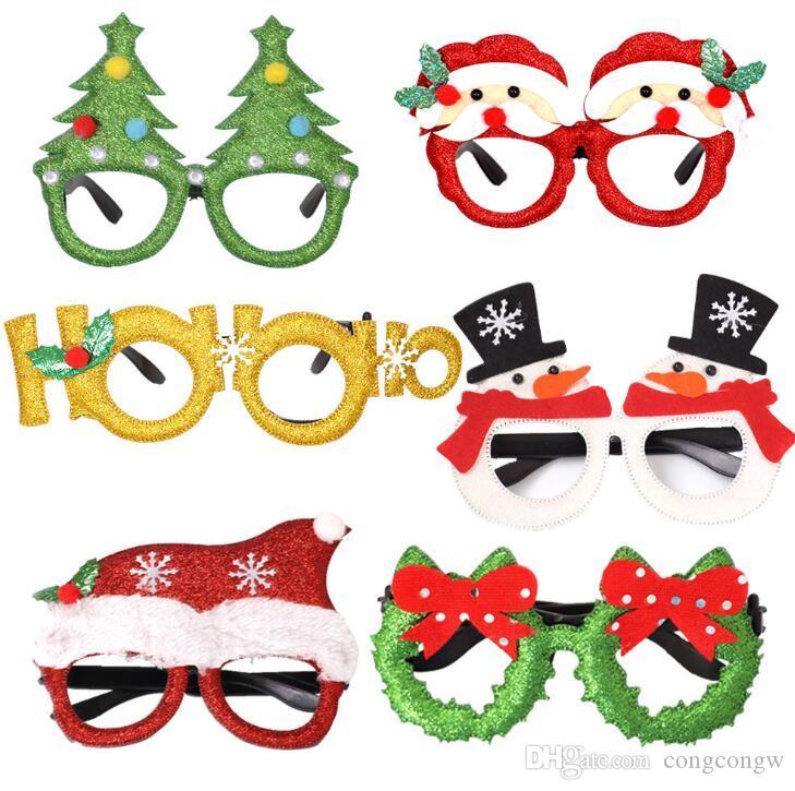 Décorations de Noël enfants adultes jouets Père Noël bonhomme de neige lunettes de ramure lunettes de décoration de Noël arbre de Joyeux Noël Gag Jouets SD01
