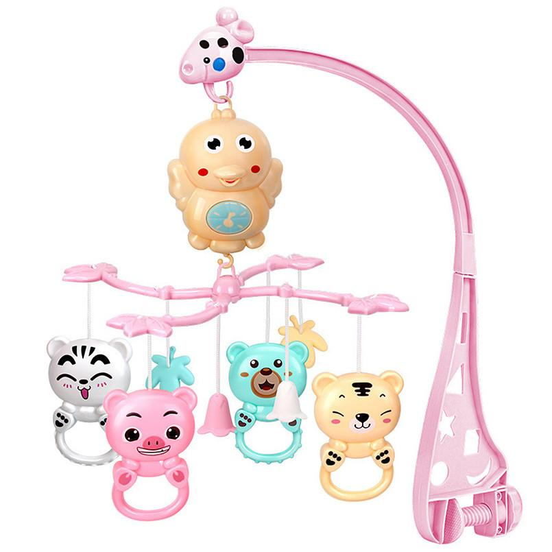 Baby Rattles Bracket Set toddler Sensory toy Crib Mobiles Holder Rotating Musical Box bed Bell Newborn Infant Baby Boy Toys CX200615