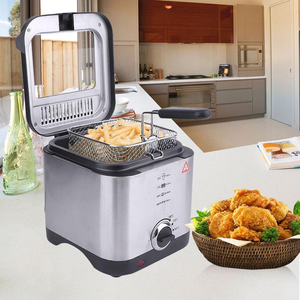 Бытовая Многофункциональный бездымного Малый электрический сковорода Бытовые Фрайер Профессиональный портативный