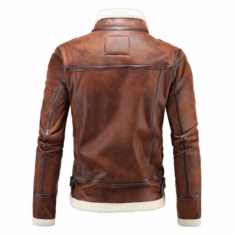 Мужчины зимняя из искусственной кожи кожа пальто куртки ягненка шерсть вкладыш Леон верхняя одежда кашемировое пальто резидент злой 4 молнии кожаная куртка голубой куртка le kelx #