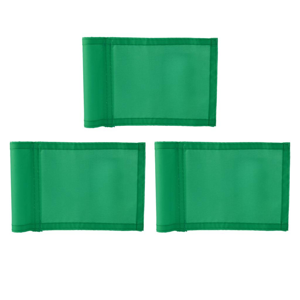 3Pcs Practice Golf Hole Pole Cup Flag,Outdoor Garden Golf Sports Training Aid,Backyard Putting Green Flag Replacement - Green