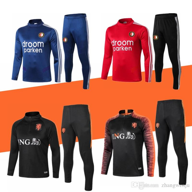 19 20 Feyenoord Rotterdam Fußballtrainingsanzug Jacke Voetbalshirt 2019 2020 Feyenoord camisas de futebol Jogging Fußballtrainingsanzug