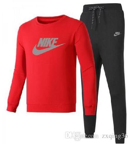 Toptan Erkek seti eşofman spor rahat kıyafet Baskılı alfabe spor takım elbise pantolon jogging yapan takım yüksek boyunlu Tişörtü + eşofman altı