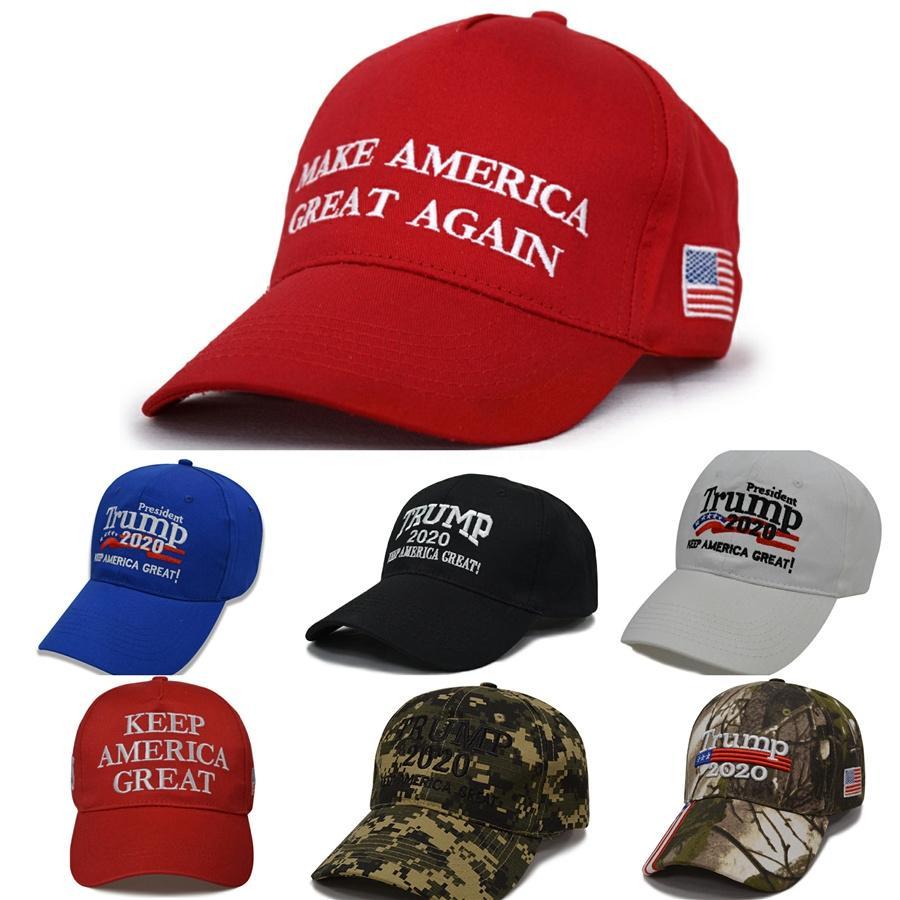 Padrão boné de beisebol New Trump Hat Eleição Hat Eleição Baseball Cap Tri-Color Dome Projeto Carta Unisex Homens e mulheres chapéu # 169