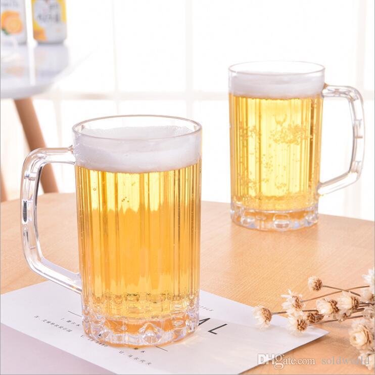 kalınlaşmış fıçı bira Zayıfladı ile Plastik PS bira kupa 500ml şeffaf kupa bardak suyu fincan içilir