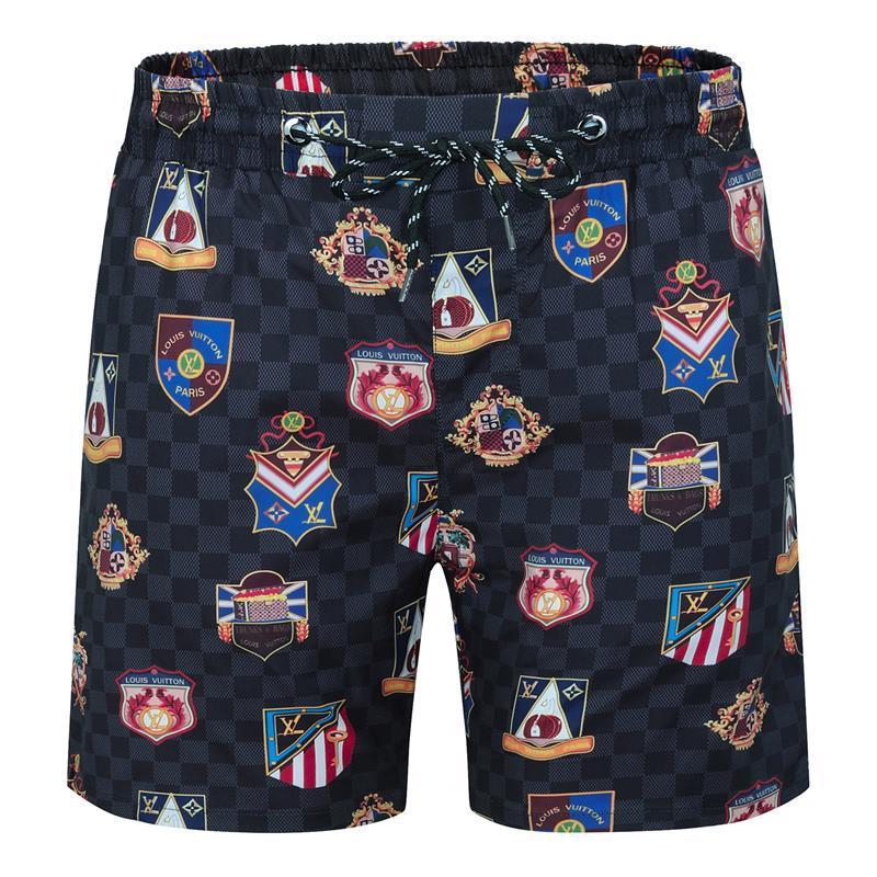 Shorts de luxo NOVO Verão de high-end de homens soltos calças casuais calções de praia Bordado Hetero Shorts respirável da manta
