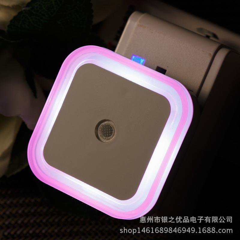 Inserto de dibujos animados Eléctrico Pequeña luz nocturna Casa de los niños Ahorro de energía Control de inteligencia Inteligencia Lámpara de inducción led Lámpara de cabecera Lámpara de pared