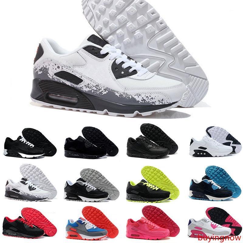 Hommes sneakers Classique 90 hommes Chaussures de course Sport formateur Coussin 90 Chaussures de sport surface respirante 40-45
