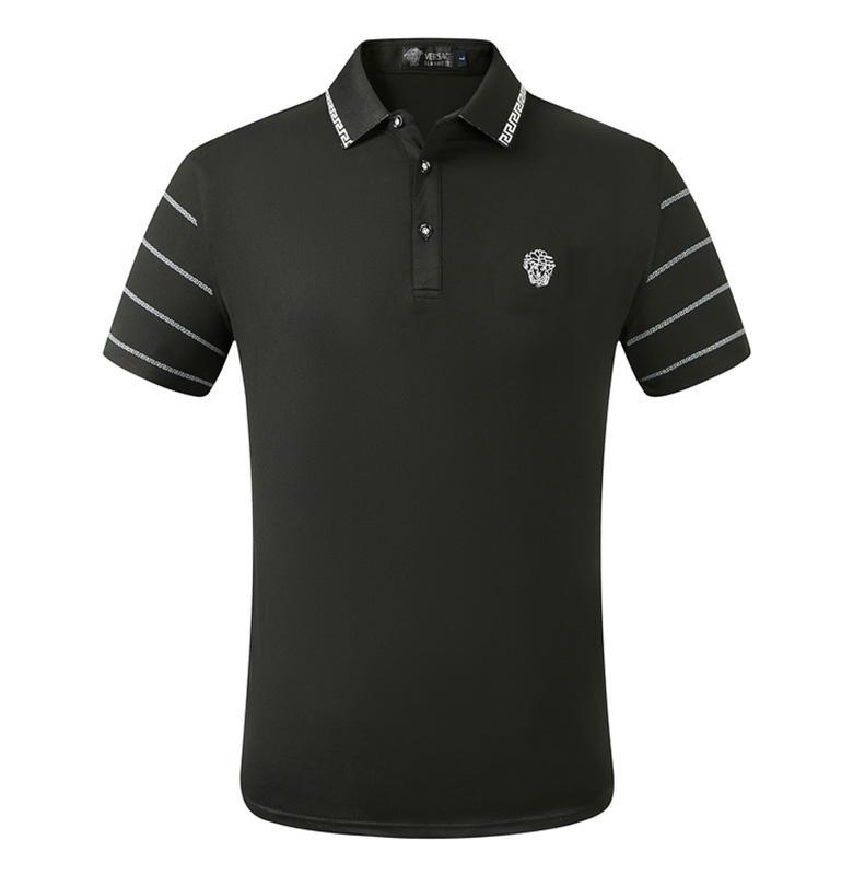 2020 дизайнер нашивки рубашки поло футболки вышивка мужской британский гольф рубашка Street печататься моды рубашки поло HMPL24
