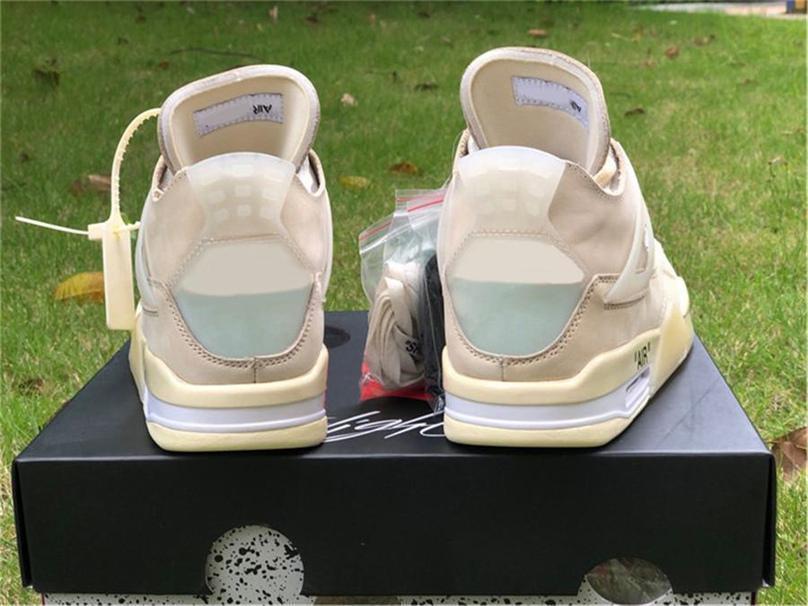 Más caliente de 2020 Off 4 zapatos de baloncesto auténticos SP WMNS muselina blanca Negro Zapatos de Vela Bred CV9388-100 las zapatillas de deporte Zapatos al aire libre con la caja