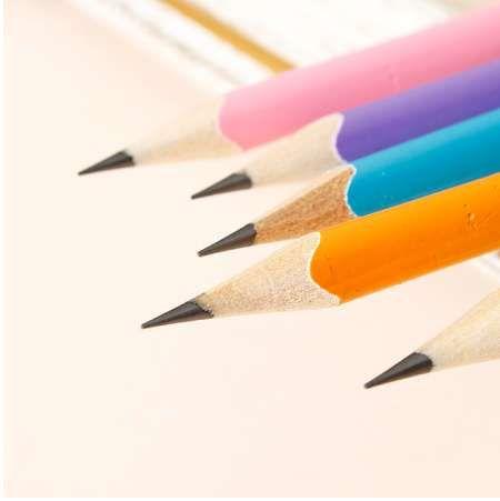 10 stücke neue einfarbig log HB bleistift dreieck gummi kopf schreiben malerei bleistift
