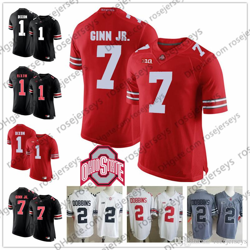 2019 Ohio State Buckeyes #1 Johnnie Dixon 4 Santonio Holmes 7 Ted Ginn Jr. 59 Tyquan Lewis Retired Player White Red Black Jersey