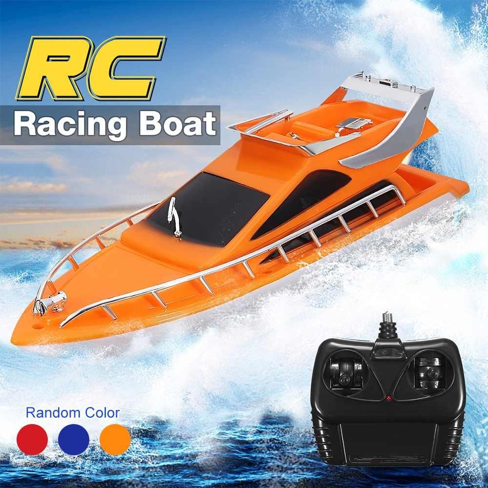 Telecomando per giocattoli elettrico Telecomando Twin Motor High Speed Barca Bambina Outdoor RC Racing Boat Bambino Bambini Giocattolo Gifts Y200413