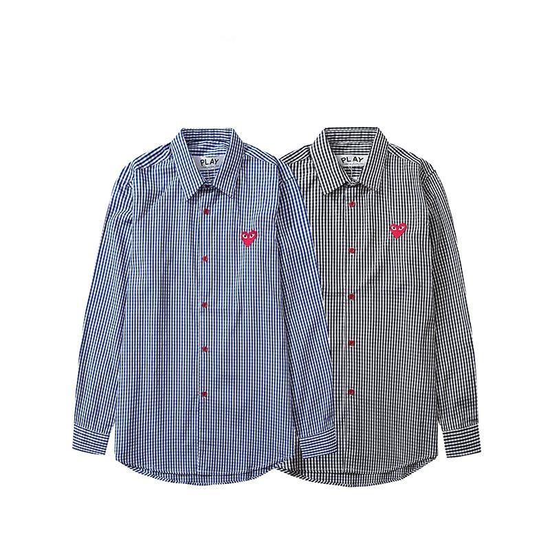 Nuova tendenza unisex camice di modo di lusso shirt Donna Marca manica lunga Mens Adolescente Top 2 colori Controllare modello All-matching B105121Z