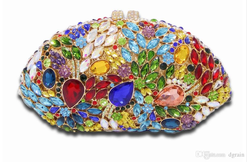 Dgrain Luxus Kristall Abendtaschen Handgemachte Krone Form Handtaschen Frauen Party Geldbörse Pochette Diamant Party Abend Handtasche