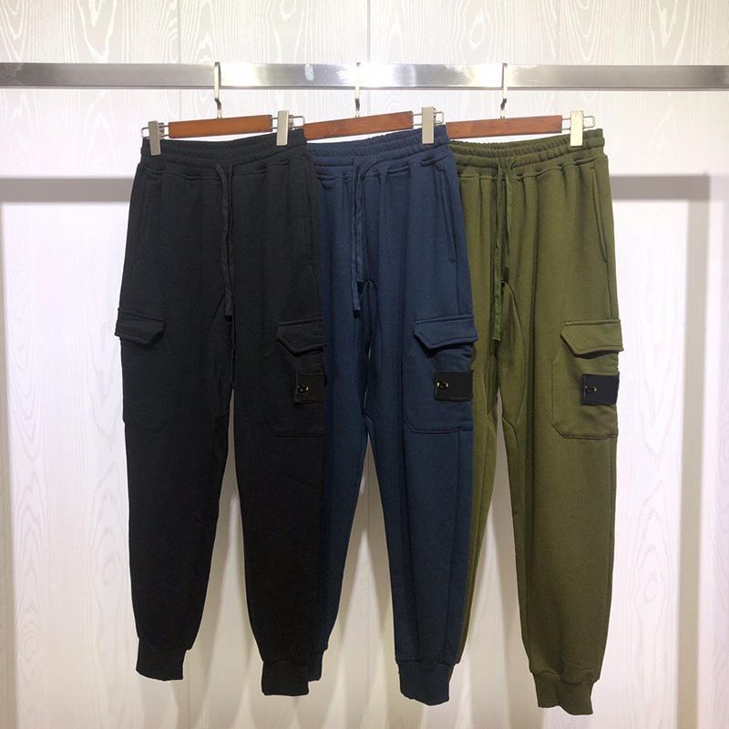 أزياء العلامة التجارية الجديدة للرجال مصمم السراويل الرجال جودة عالية ملابس الرجال النساء عارضة الازياء سروال اسود اخضر ازرق البضائع