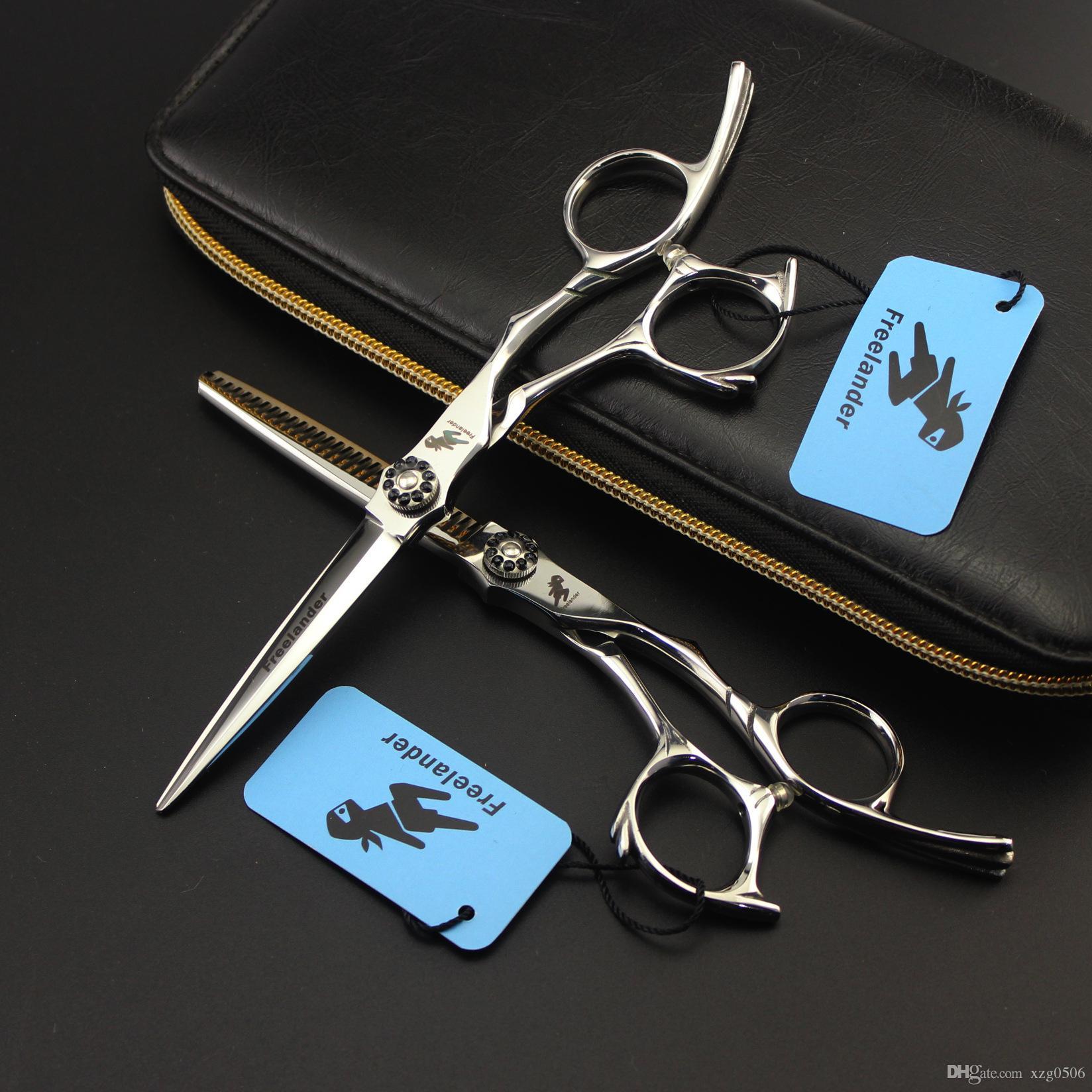 """6 """"17.5 cm 440C Profesyonel Saç Makas Berber Makas Salon Kuaförlük Makaslar Saç Kesme Makas İnceltme Makası Yeni Varış S007"""