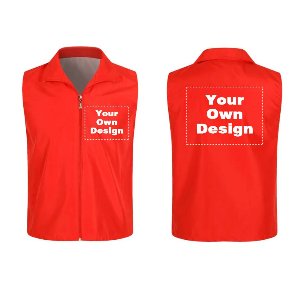 3pcs2019 S-3xl Your Own Design Brand Logo/picture White Custom Men And Women Vests Plus Size Jacket Men Clothing Outdoor Couple C19041101
