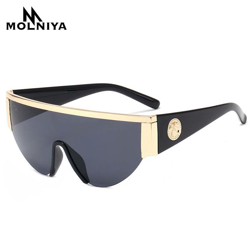 Men Metal Sunglasses Classic Women Half Frame Sun glasses Siamese Lens Gradient Eyeglasses UV400 New Product CX200706