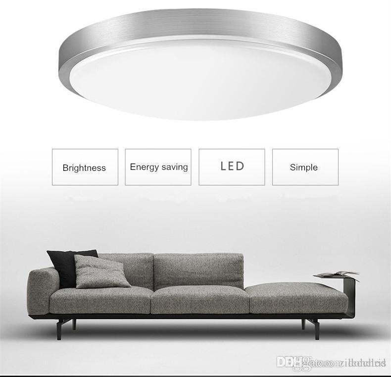 Modern Yuvarlak LED Tavan Işık Dia21cm 12W Yüzey Basit Fuaye Fikstür Çalışma Odası salonu Ana Koridor Aydınlatma yaşayan Yemek Monteli