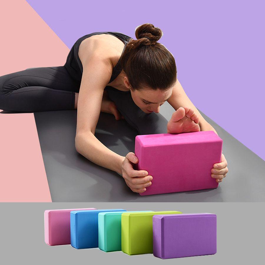 YOGA BLOCKS FOAM High Density Exercise Training 2 Pack Comfort Home Gym Workout