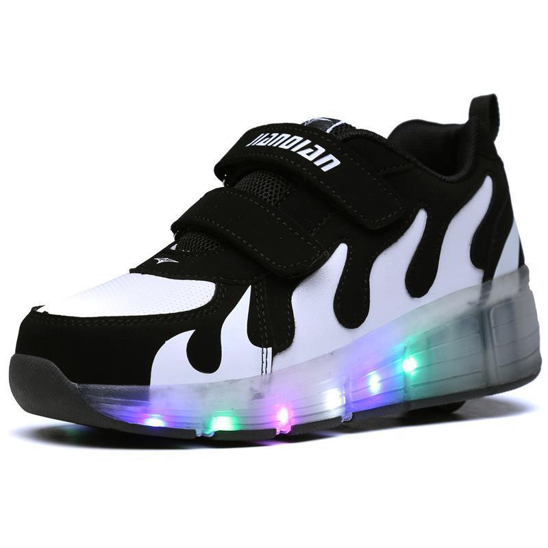 Chaussure simple Led Light Boys Filles Chaussures de sport pour enfants Pour Enfants Garçon Casual Luminescence Enfants Chaussures Usine Enfant Sneakers Heelys