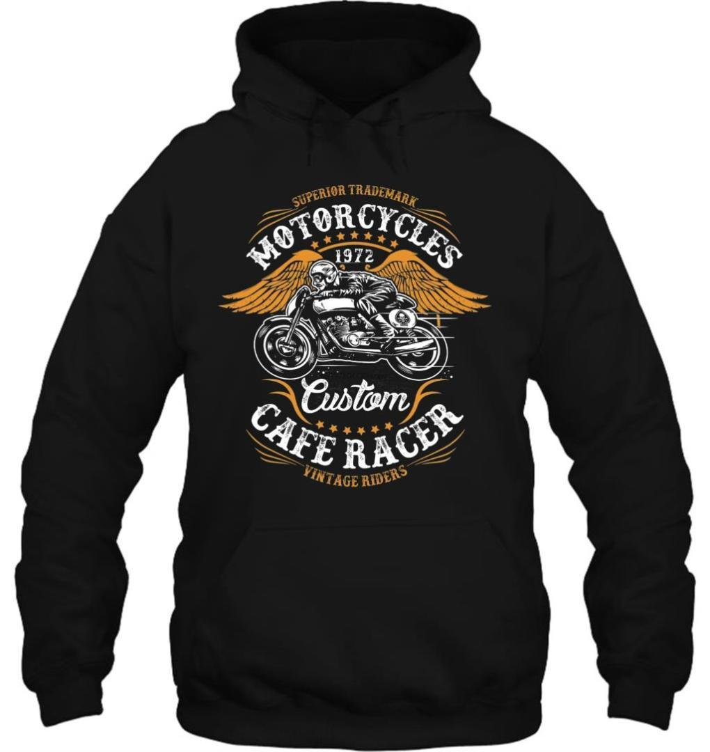 Men Hoodie New Fashion Cool Motor Cycles Custom Cafe Vintage Biker New Design Casual Women Streetwear
