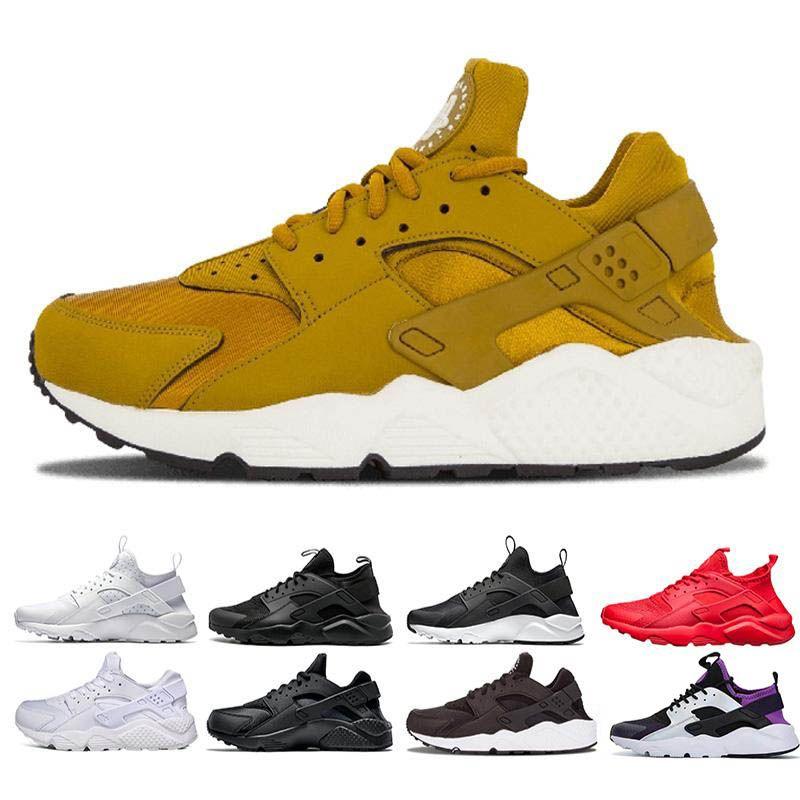Huarache Ultra Koşu erkekler 1,0 4,0 Gri Altın Üçlü siyah beyaz kırmızı Erkekler Kadınlar Ayakkabı Huaraches Eğitmenler Spor Sneakers boyutu 36-45 Koşu