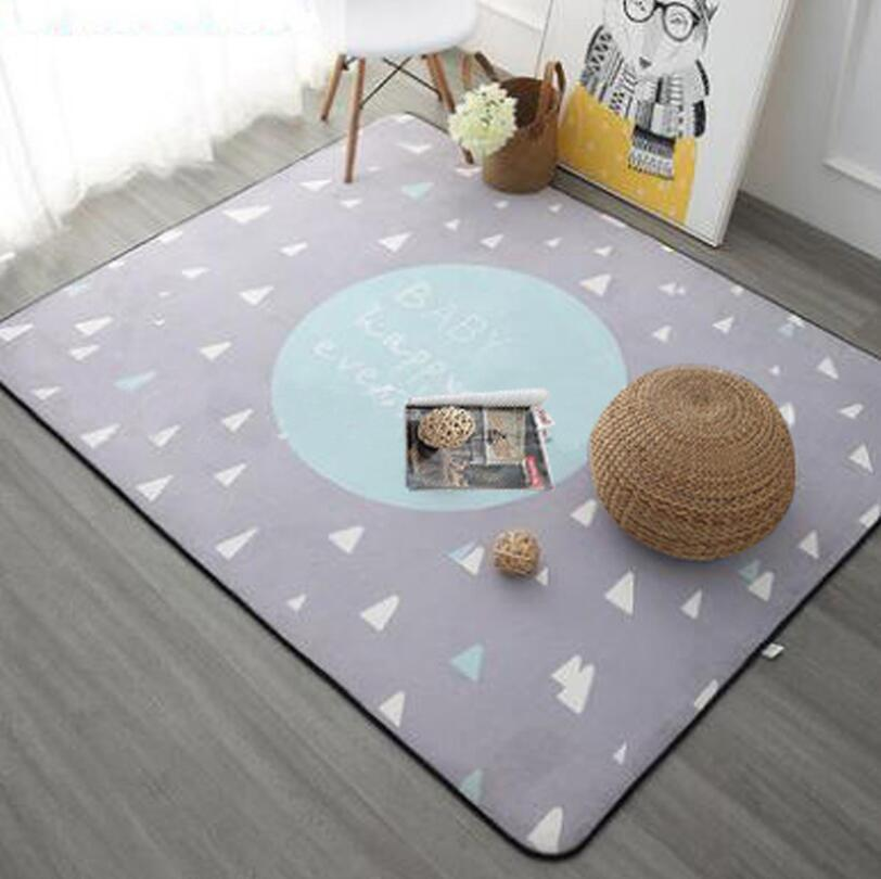 INS European Thicken Soft Kids Room Play Mat Modern Bedroom Area Rugs Large Pink Carpets crawling pad for Living Room 120x180cm