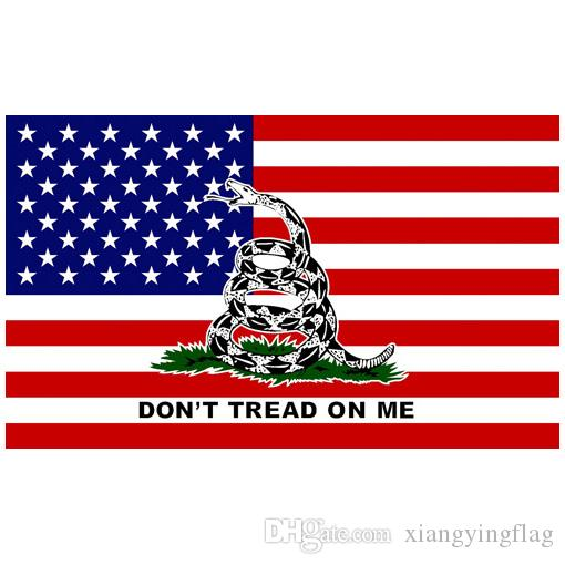 *USA Made GADSDEN DONT TREAD ON ME Rebel In//Outdoor FLAG Snake TEA PARTY Banner