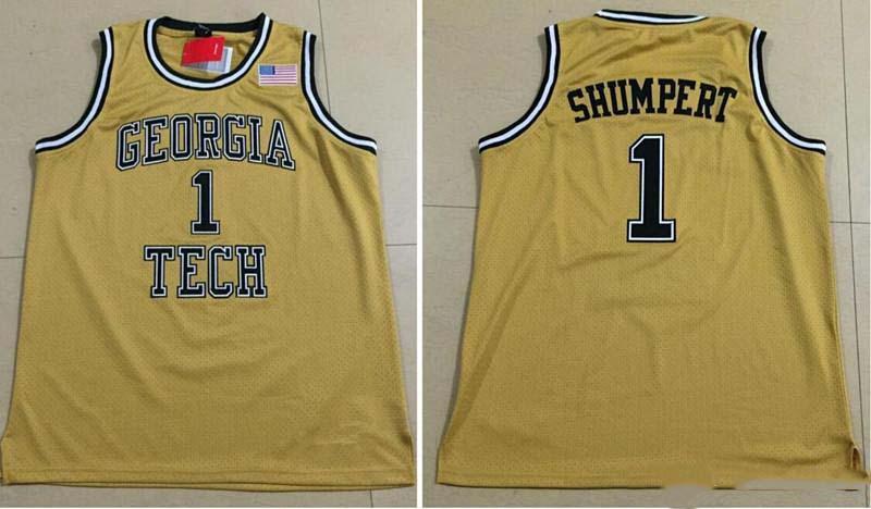 nach Maß #1 Iman SHUMPERT GEORGIA TECH college Mann Frauen Jugend basketball Trikots Größe s-5XL jeder name Anzahl