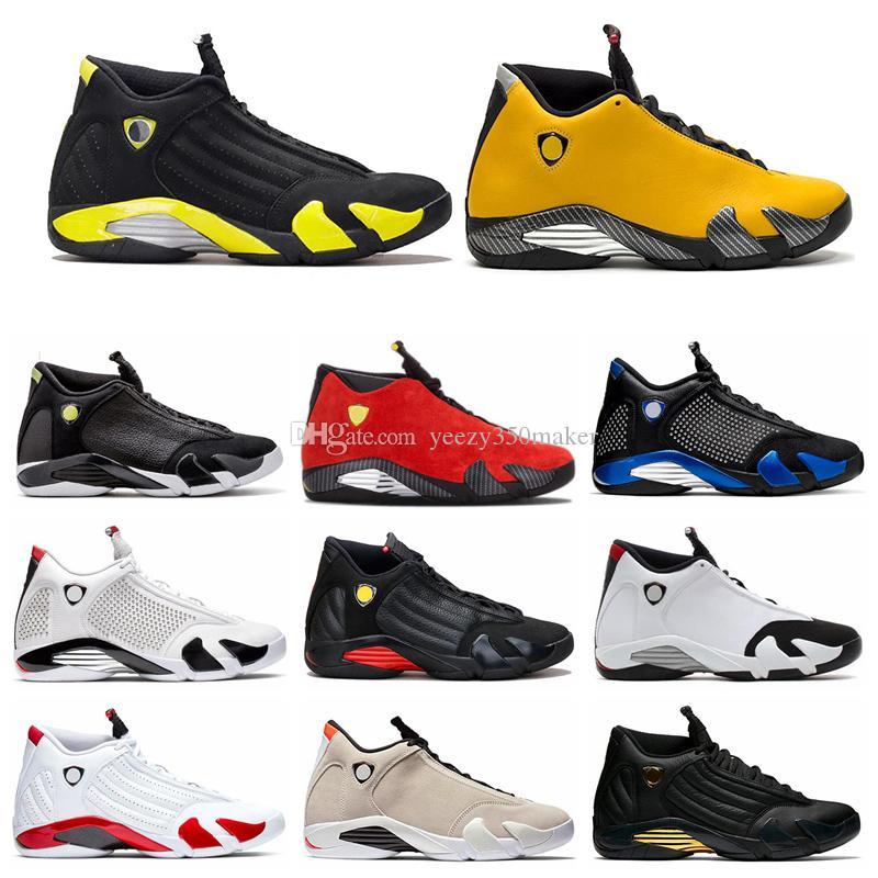 Novos 14 14s Homens tênis de basquete Amarelo Candy Cane Red Preto branco dos homens instrutor Sports Sneakers Atlético Tamanho 41-47 Atacado