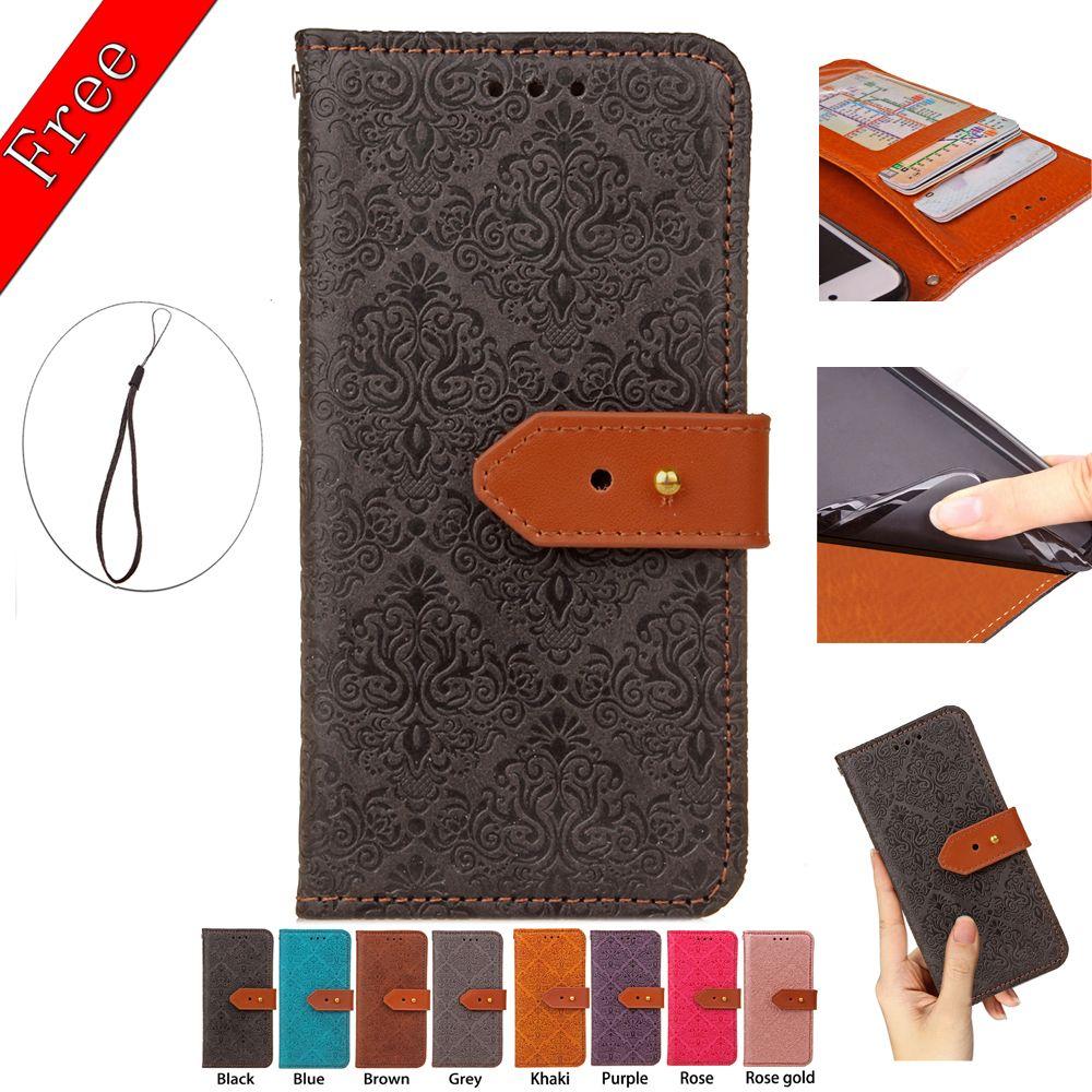Étui portefeuille peinture européenne cuir PU avec porte-cartes Cadre photo 102 modèles pour option