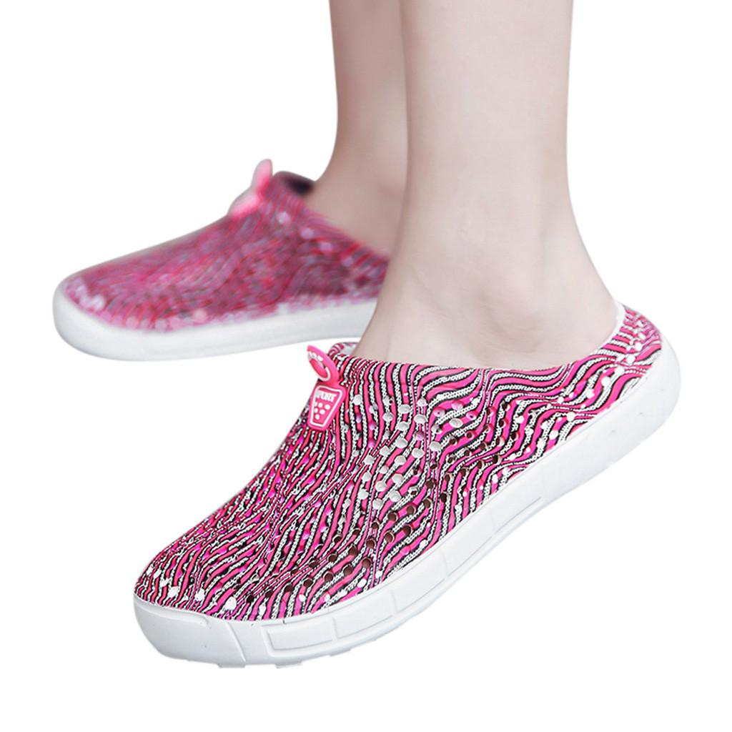 Mens Women Summer Beach Sandal Hollow-out Shoes Casual Breathable Slippers Flats