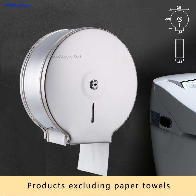 Tlhottop parede de alta qualidade Mounted Papel Higiênico Jumbo Roll suporte de papel toalha Dispenser Banho Acessórios YJ-8630 T200425