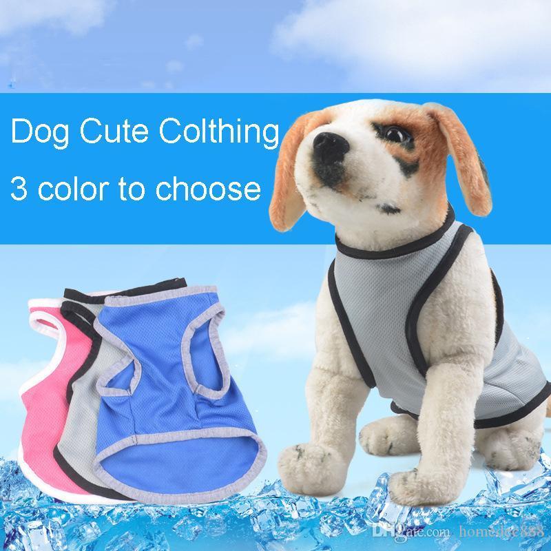 Ropa para perros mascotas Nylon para mascotas Chaleco de malla Soft Net Dog Mini chaleco ajustable perrito transpirable arnés del perro suministros para perros paño caliente DH0193