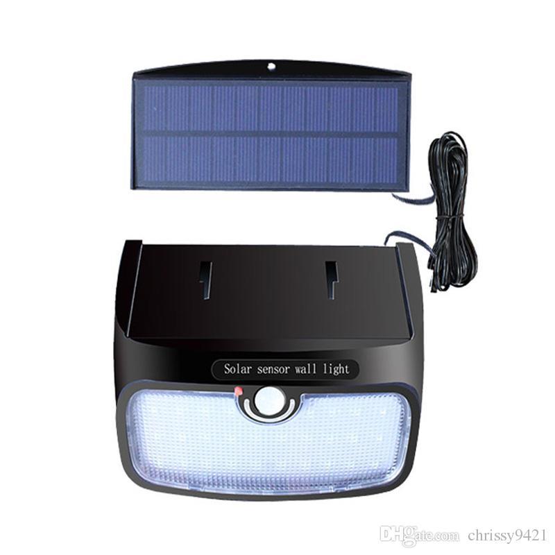 Separáveis 48LEDs PIR Motion Sensor Solar Jardim lâmpadas à prova d'água luz solar parede exterior luz Segurança Noite