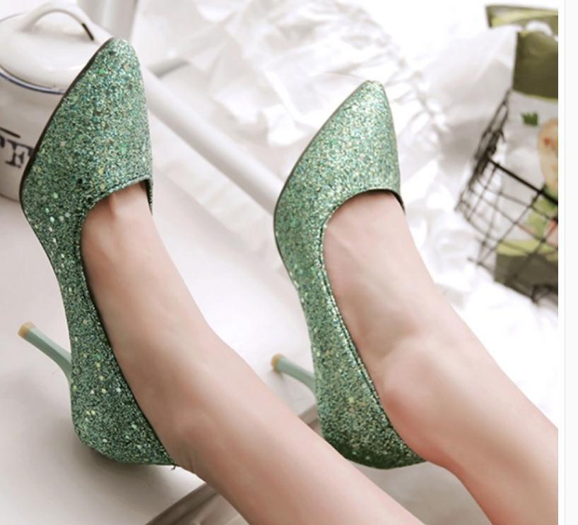 2020 весной и осенью с новой моды стиль Высокий каблук прекрасный пятки заостренный конец обувь Женская @ MQWBH372