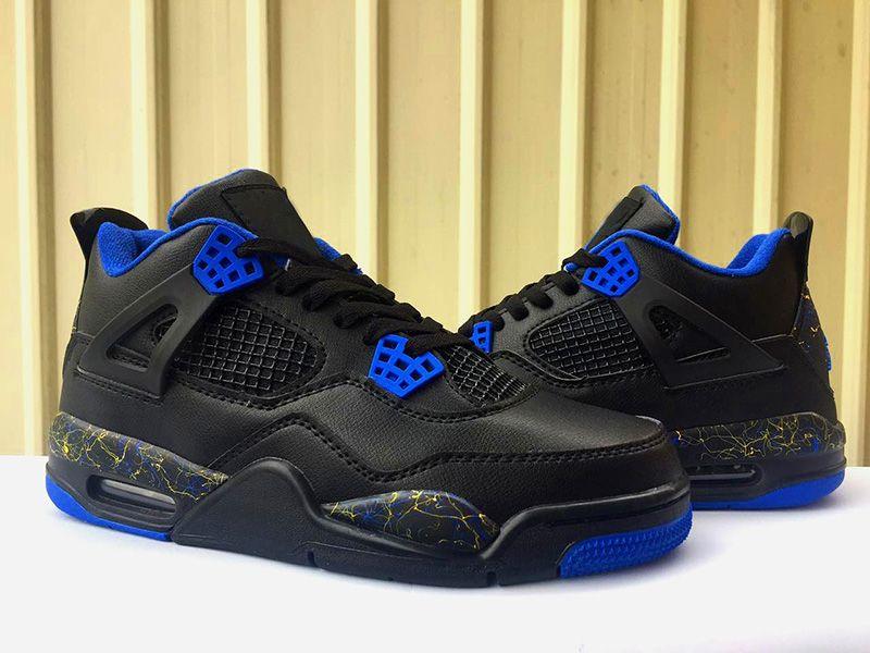 2020 4 4s WINGS Black Blue Jumpman Men