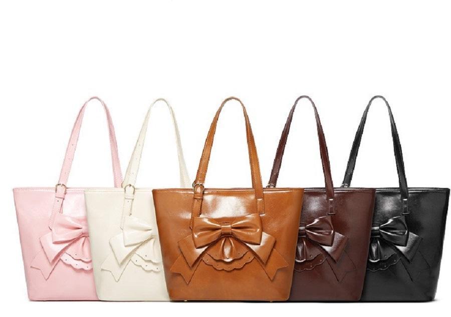 Mujer moda diseñador bolsas arco cremallera tote dama compras bolso volumen de cuero volumen lujoso encaje grande dulce Mbbanf